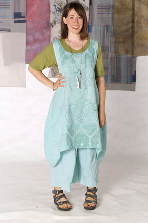 6182 Linen Pinafore Mint-P
