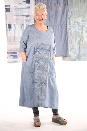 7214 The Linen Dress Summer Blue-P