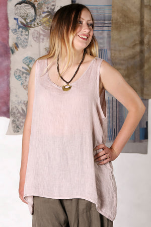 1196 Linen Tank Sweet Unprinted