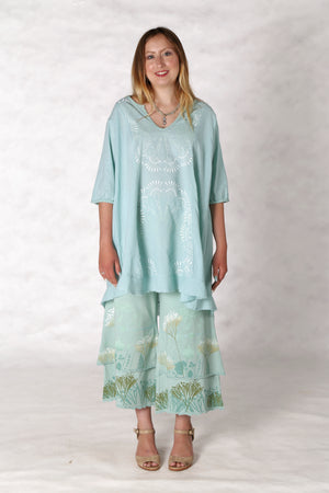 2300 Flounced Bliss Tunic Mint-P