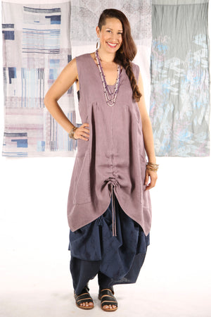 6204-Long Cottage Jumper Plum Haze -U