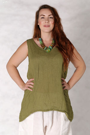 1196 Linen Tank Sprout-U