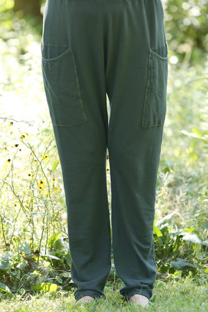 3293 Bamboo /Organic Cotton Knit Pant w huge pockets-Sequoia-U