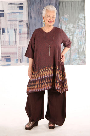 2257 Striped Zen Tunic Saffron-P