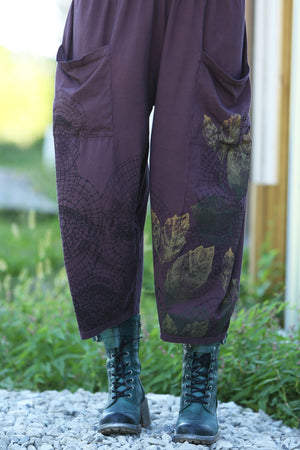 3298 Four Square Pant-Burnt Sugar-Printed