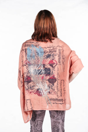 5230 Artful Summer Cardi Sunset Orange - Nouveau Feather