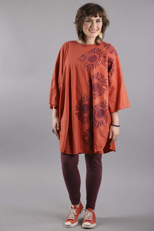 Camp Oversized Tunic Daylily Printed-2262B