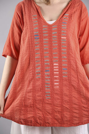 Embroidery Stripe PRINTED Mango Tunic 2264A