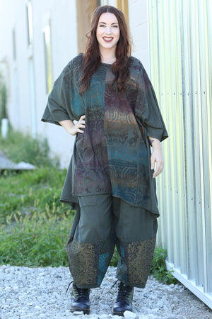 1255 Oversized Tunic Tee-Night Forest-Printed
