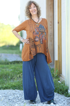 1248 Mantra Hi/Lo Top-Amber-P