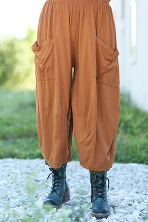 3298 Four Square Pant -Amber-Unprinted