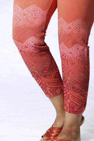 3167 Cropped Legging-Coral-P