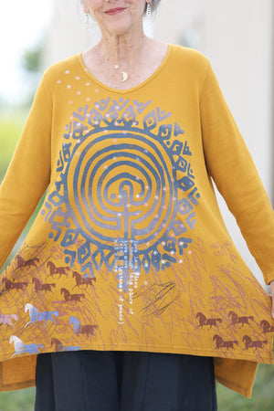 2293 Thermal Voyages Tunic- Turmeric-P