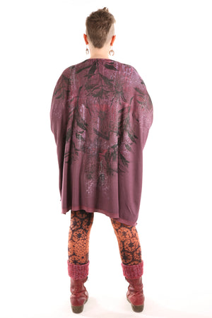 4259 Celebration Cardigan-Plum Rose-Floral Botanicals