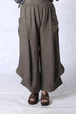 3243 Linen Billow Pant Bark-U