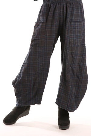 3159P Plaid Klee Pant Charcoal Plaid Unprinted