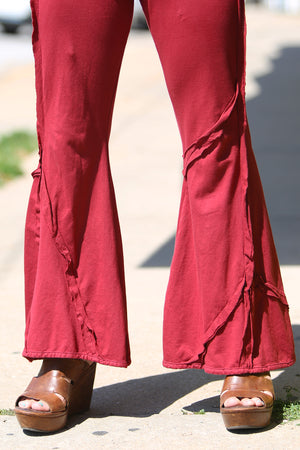3295 Patchwork Pant-Elegant Red-Unprinted