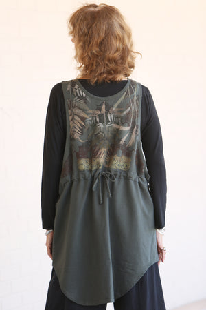 6205-Furber Vest- Night Forest-Printed