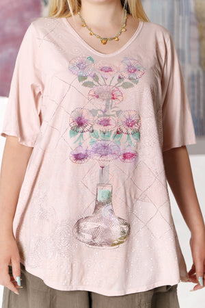 1211 Lightweight A-Line Layer Tee Sweet-P