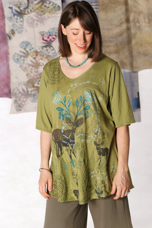 1211 Lightweight A-Line Layer Tee Sprout-P