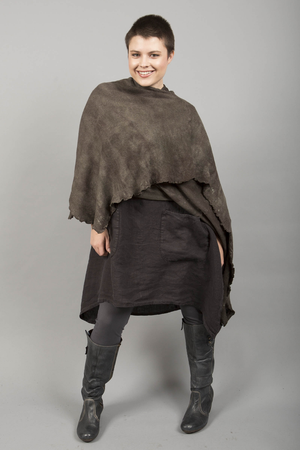 Drape Art Wrap Hand Dyed- Charcoal Blend, size O/S