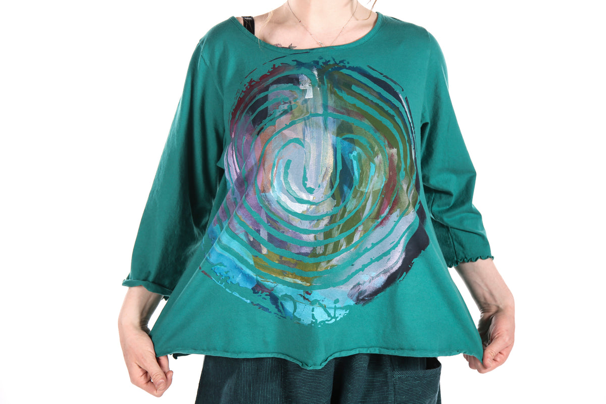 1145 S/S Cafe Tee-Cadium-Printed Labyrinth Pallette