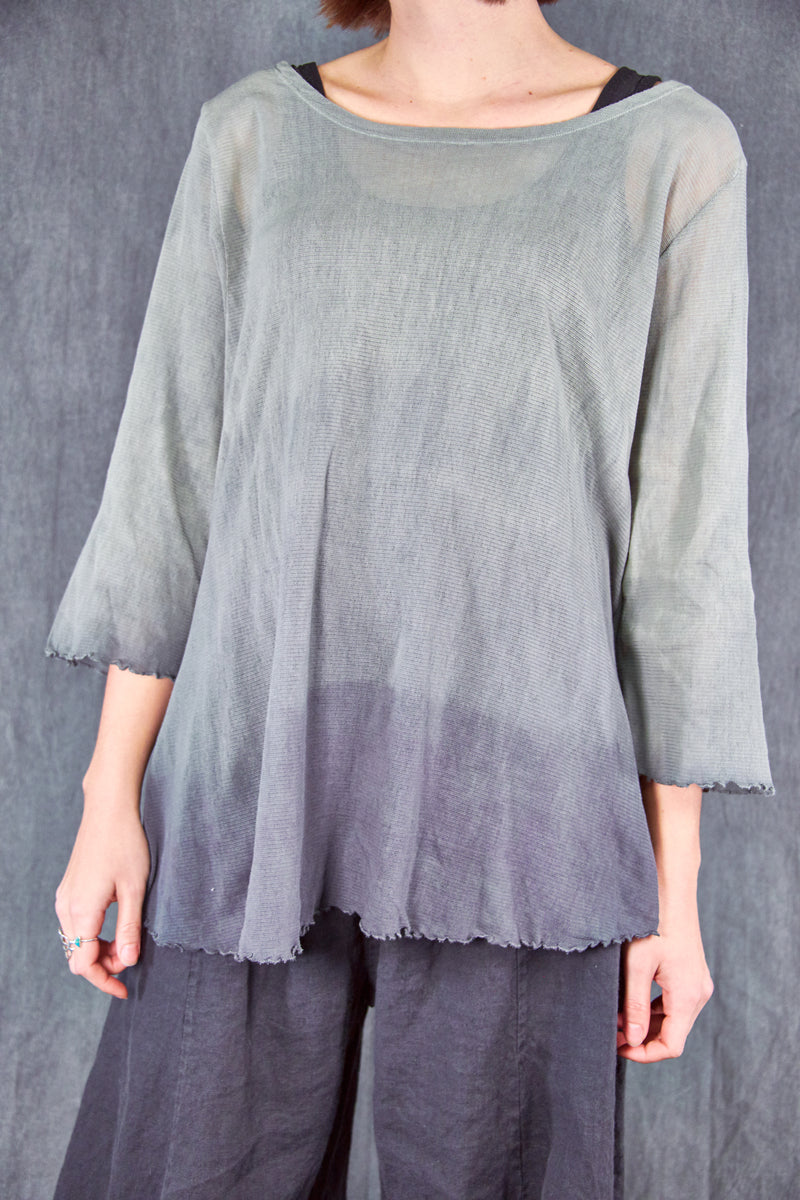 1145HD Hand-dyed Mesh Cafe Tee Sage Twilight Ombre-U