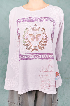 1145 S/S Cafe Tee Rose Water-P