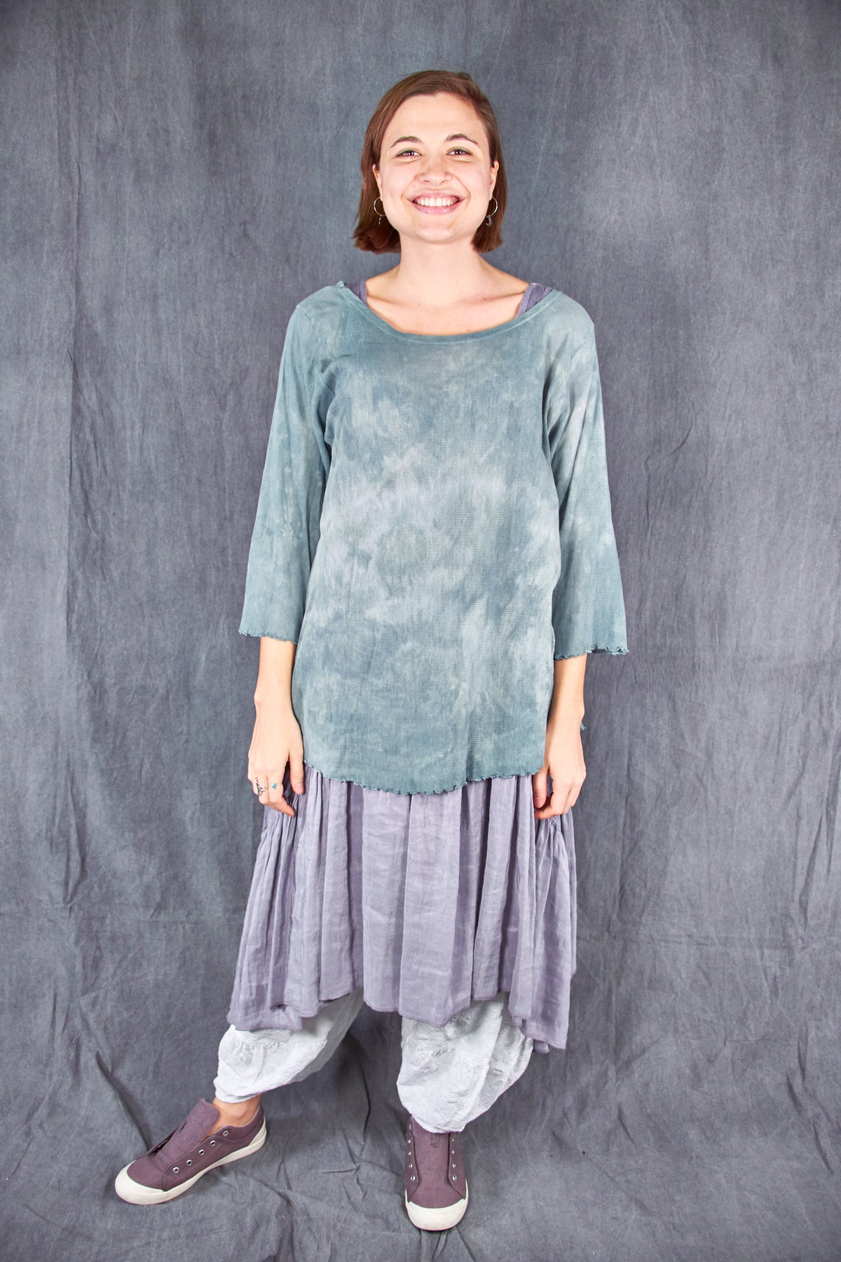 1145HD Hand-dyed Mesh Cafe Tee Atmosphere/Patina-U