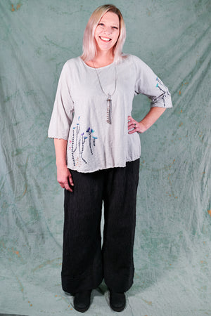1145 Slub Cafe Tee Marbled Gray -Ophelia