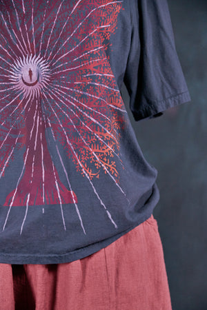 1171-Fiona Tee Charcoal Navy-Cosmic Tree