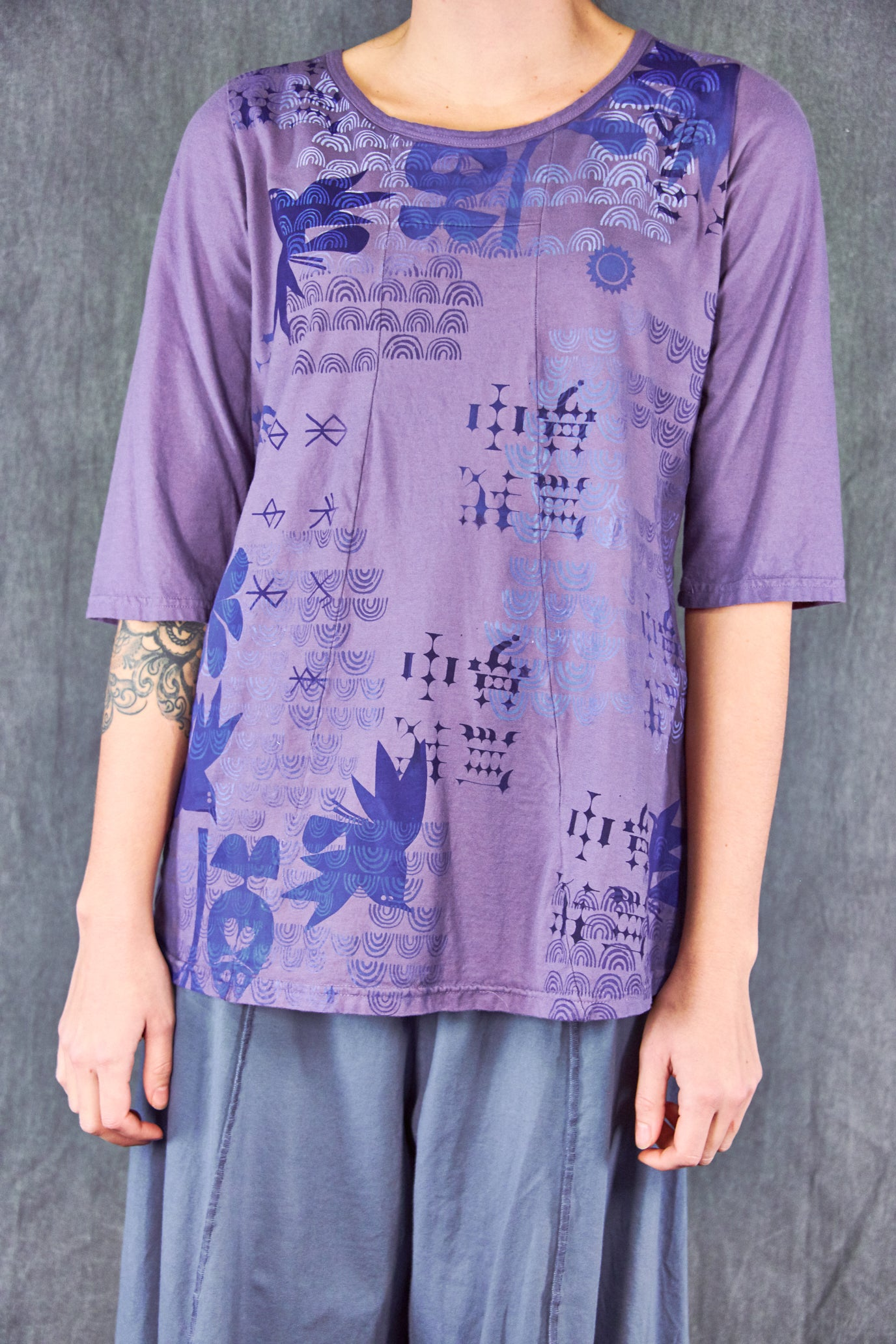1207 Sunny Day Top-Violette-Letter Press Bird