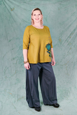 3142 Organic Billow Lounge Pant Shadow-U