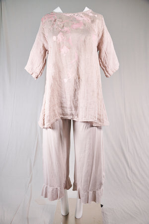 1210 Linen Simple Tunic-Natural-P