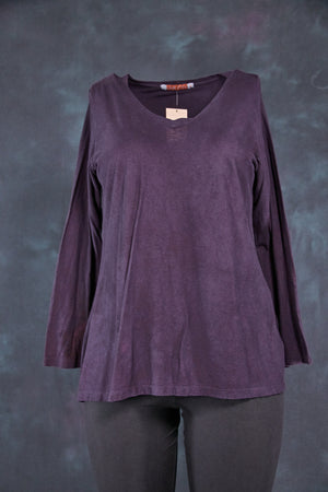 1219 Organic Hemp Cotton Layering Top-Purple-U