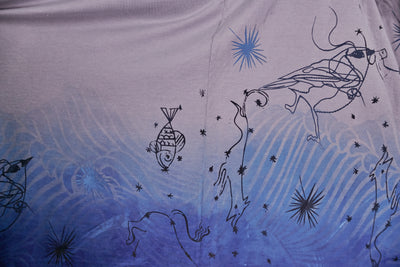 "1236HD Line Tee Blue Dip-Under the Sea 30""L"