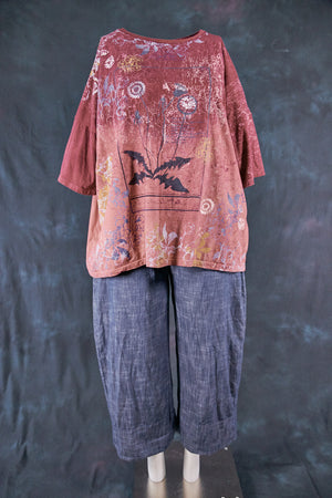 1236HD Line Tee-Sienna Merlot-Map and Bloom Wild Beauty 28.5