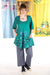 1241 Be Here Now Tunic Cadmium -P-mid century allium