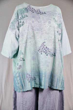 1236HD Line Tee-Hidden Worlds- Mint Julep Ombre-30/31""
