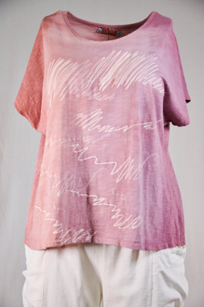 1250 Moon Tee HD Strawberry Rose Abstract Signature-P