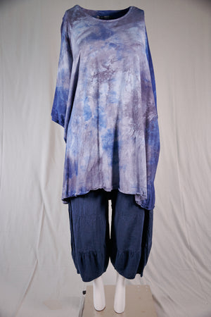1255 Art Tunic Blue Crush Water Wave