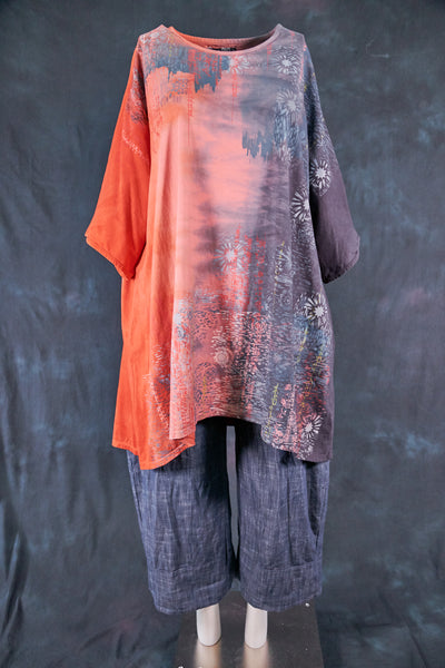 1255HD Art Tunic Flame to Smoke-Mountain Sea Dream