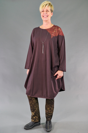 1257 Natalia Tunic-Peat-Falling Leaves-P
