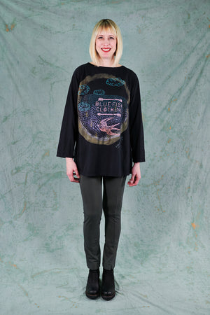 1259 Kaleidoscope Top-Black