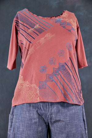 1569 Poetic Layering Top-Rose Canyon-P