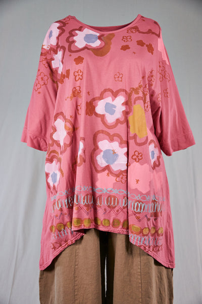 1566 Drawcord Tunic-Bloom-P