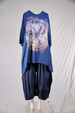 1566 Drawcord Tunic-Blue Ink-XIV Composed