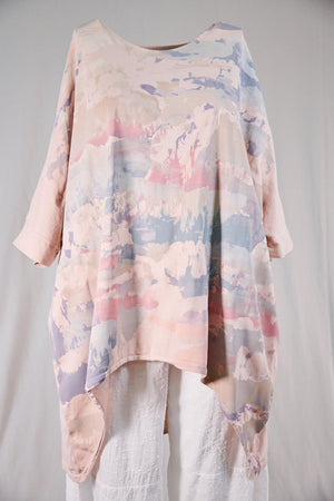 1566 Drawcord Tunic-Natural Pink-P