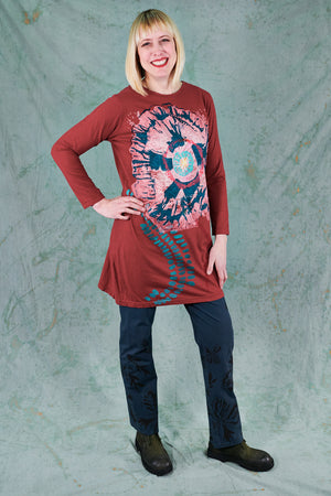 1571 Simple Tunic-Nepal-Poppy Daydream