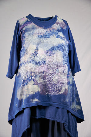 1577 Images Tee-Blue Ink-Cloud Mandala